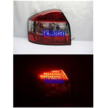 Sonar Audi A4 '01-04 Crystal LED Tail Lamp Red/Clear