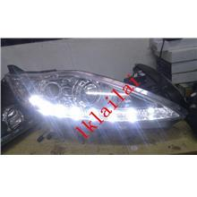 Ford Fiesta `09 Head Lamp Crystal Projector Chrome +DRL [FD03-HL02-U]