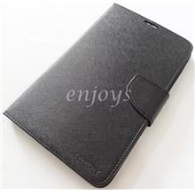 MERCURY Fancy Diary Goospery Book Case Cover Pouch Lenovo A3300 ~BLACK