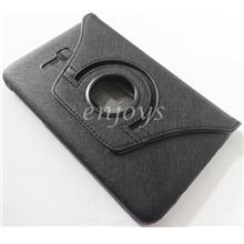 Rotate Leather Pouch Cover Samsung Galaxy Tab 3 V T116 T111 T110 ~BLK