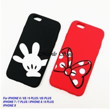 Apple IPhone 6 6s 7 8 Plus X Minnie Mickey Mouse Soft Rubber Case
