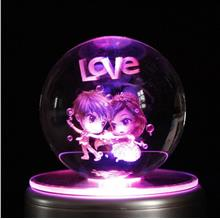 LED Crystal Ball Music Box Home Decoration Music Box for Children Kids..