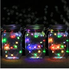Solar Mason Jar Light Waterproof Fairy Lamp With Hanger Outdoor Party ..