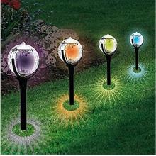 Solar Ball Light Waterproof Colorful Lawn Lamp for Path Garden Outdoor..