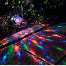 Solar Power Lamp LED Projector Light Rotating Colorful Light Home Yard..