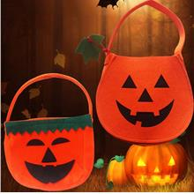 Pumpkin Candy Hand Bags Candy Storage Halloween For Boys Girls Costume..