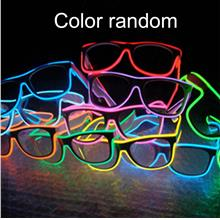 Voice Control LED Glasses El Wire Neon Cold Flashing LED Glow Sun Glas..