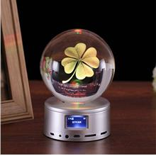80 mm Wireless Bluetooth Crystal Ball Music Box Remote Control Music B..