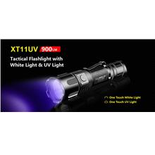 Klarus XT11UV Utilizes 3 x 365nm UV LED & White Light Flashlight