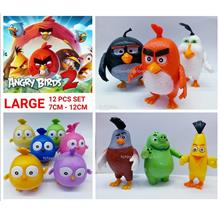 OFFER.! LARGE Angry Birds Toy Figure Deluxe 12cm Cake Topper 12pcs set