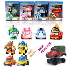 NEW Robocar Poli & Friends Transformer Toy Poli Poacher Mark & Bucky