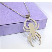 Classic Spider Stainless Steel Pendant Chain Fashion Motif