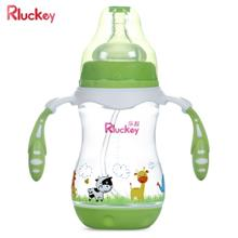 Rluckey 240ml Wide Caliber PP BPA-free Baby Drinking Bottle (GREEN)