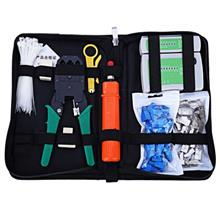 Network Computer Maintenance Tool Kit Cable Tester Crimper 50 Rj45 Cat..