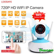 LOOSAFE 720P IP Camera WIFI Home Video Security Indoor Cam System Blue