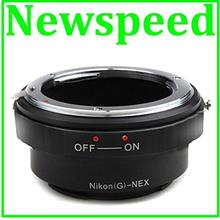 New Nikon G Lens to SONY E Mount NEX Camera Adapter W/ Aperture ON OFF