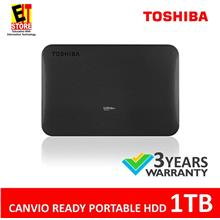 TOSHIBA CANVIO READY 1TB USB3.0 EXTERNAL HARD DISK (BLACK)