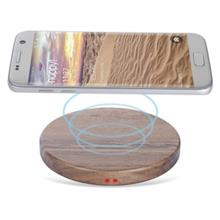 SIMPLE STYLE WOODEN QI WIRELESS CHARGING PAD FOR QI-ENABLED SMARTPHONES (DUN)