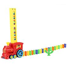 CLASSIC DOMINO RALLY TRAIN TOY SET IDEAL BIRTHDAY CHRISTMAS GIFT (COLOURMIX)