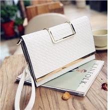Women Clutch Bag Shoulder Portable Weaving Small Envelope Fashion Purs