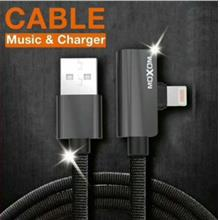 MOXOM CC43 LINGHTNING /MICRO USB 2 IN 1 CABLE MUSIC CHARGING 120CM 2.4