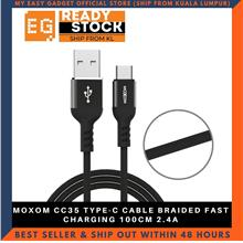 MOXOM CC35 TYPE-C CABLE BRAIDED FAST CHARGING 100CM 2.4A