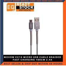 MOXOM CC14 MICRO USB CABLE BRAIDED FAST CHARGING 100CM 2.4A