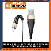 MOXOM CC34 LIGHTNING CABLE DURABLE FAST CHARGING 100CM 2.4A