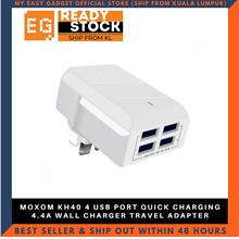 MOXOM KH40 4 USB PORT QUICK CHARGING 4.4A WALL CHARGER TRAVEL ADAPTER