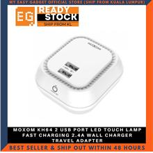 MOXOM KH64 2 USB PORT LED TOUCH LAMP FAST CHARGING 2.4A WALL CHARGER T