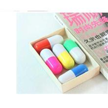 04458 Funny New Spell Color Stitching Large Pills Retractable Ballpoin