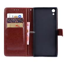 Sony Xperia XA1 / Plus Ultra Flip Card Slot Leather Case Cover Casing
