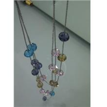 04293 100% Real Shot Korean Version Of The Three-Color Necklace