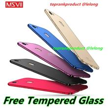 Msvii ViVO V7 Plus Hard Back Case Cover Casing + Clear Tempered Glass