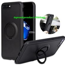 iPhone 6 6S 7 Plus Magnet Silicone Ring Stand Full Case Cover Casing
