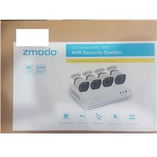 ZMODO 4 720P CAM 4 CH SPOE NVR SECURITY SYSTEM ZS-1004 WHITE