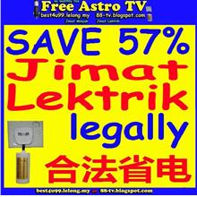 Bersih 4 bill electicity saving Power Saver Penjimat Lektrik jimat P5