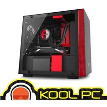 * NZXT H200i MINI ITX BLACK + RED TEMPERED GLASS CHASSIS