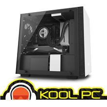 * NZXT H200i MINI ITX BLACK + WHITE TEMPERED GLASS CHASSIS