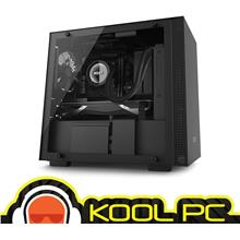 * NZXT H200i MINI ITX ALL BLACK TEMPERED GLASS CHASSIS