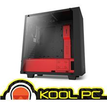 * NZXT S340 ELITE Desktop Casing ( Red + Black )