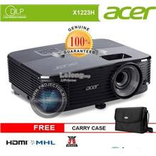 ACER X1223H DLP PROJECTOR (XGA, 3600 LUMENS) CARRY CASE + HDMI CABLE