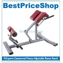 FitExperte Fitness Adjustable Roman Bench Chair Back Extension 6 Packs