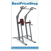 FitExperte Commercial Grade Chin Up Dip Tower Station Exercise Rack