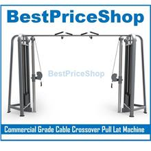 Commercial Grade Cable Crossover Machine Pull Lat Chest Exercise Rack