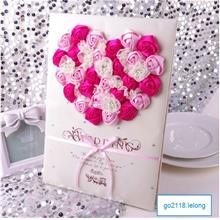 3D rose wedding signature welcome book