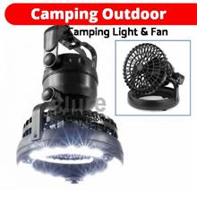 Outdoor Camping Combo Portable 18 LEDs Light Tent Lantern  & Fan