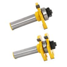 T Type Alloy Woodworking Milling Cutter Three-teeth Tool (YELLOW)