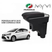 Perodua Myvi 2018 Dual Layer With USB Arm Rest/ Console Box Black