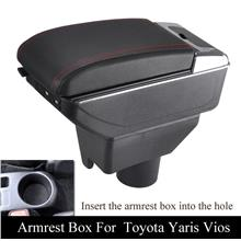 Toyota Vios 2018 Dual Layer With USB Arm Rest/ Console Box Black